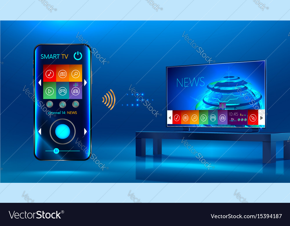Smart tv vector image