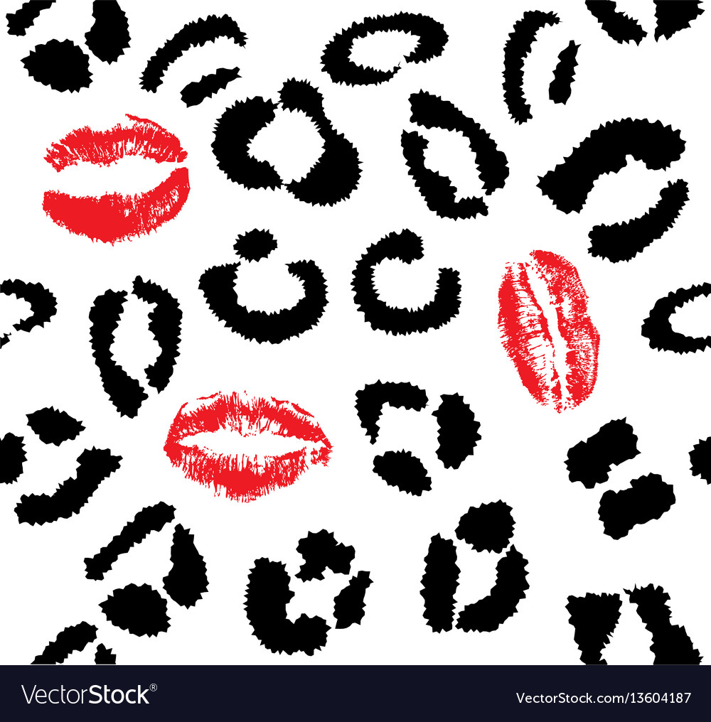 Snow leopard red lips