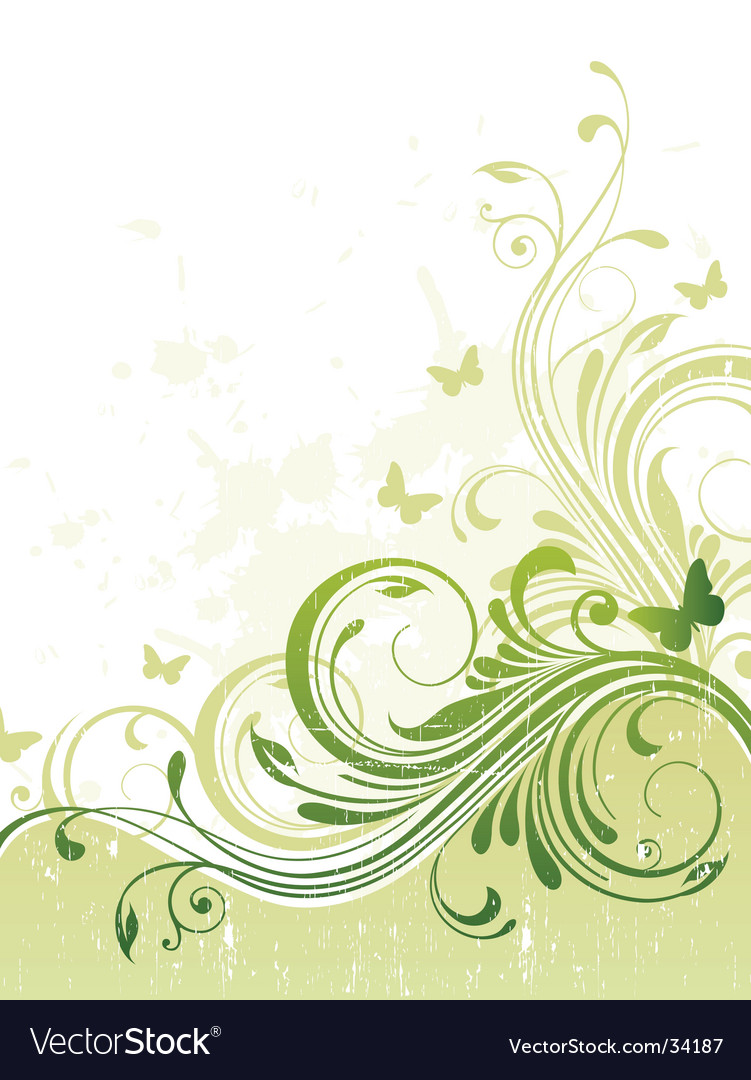 Summer floral background vector image