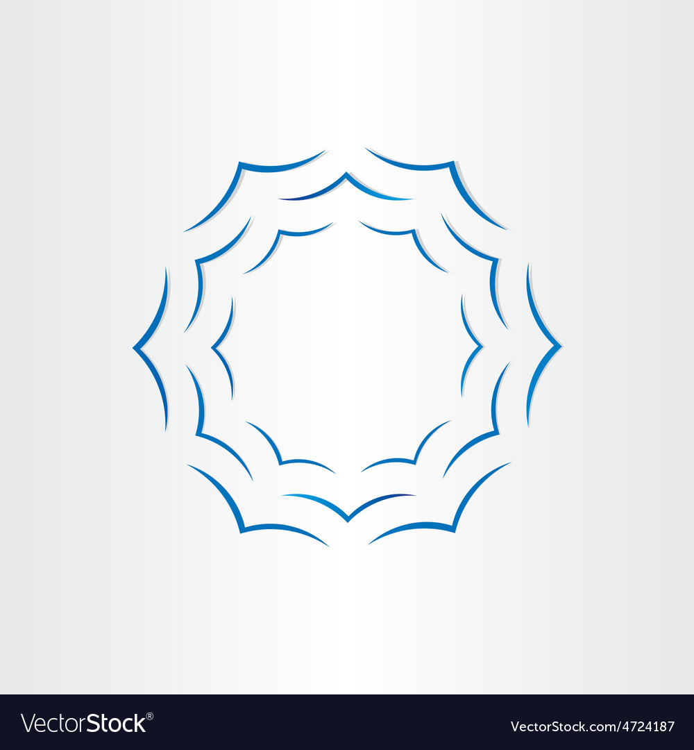 Warer waves in circle abstract background vector image