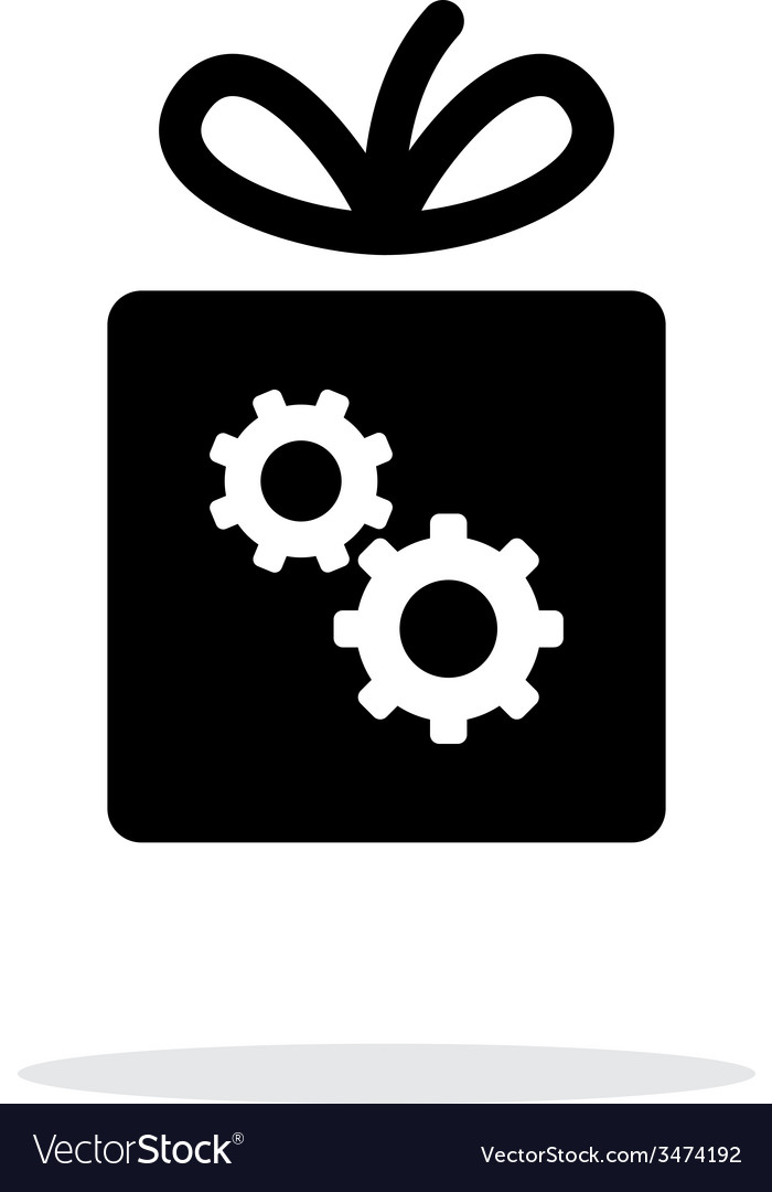 Box with gear icon on white background vector image