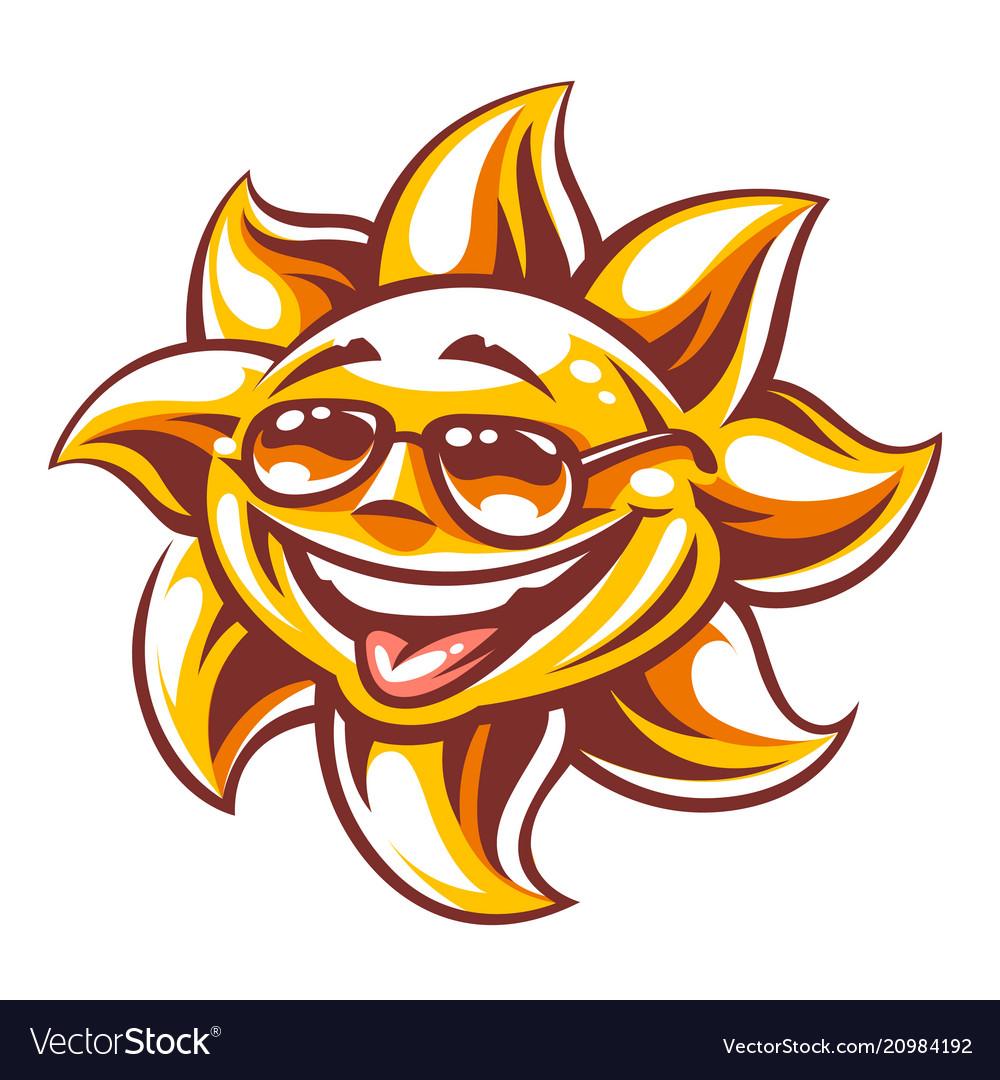 4cdeb92123 Cartoon happy sun art Royalty Free Vector Image