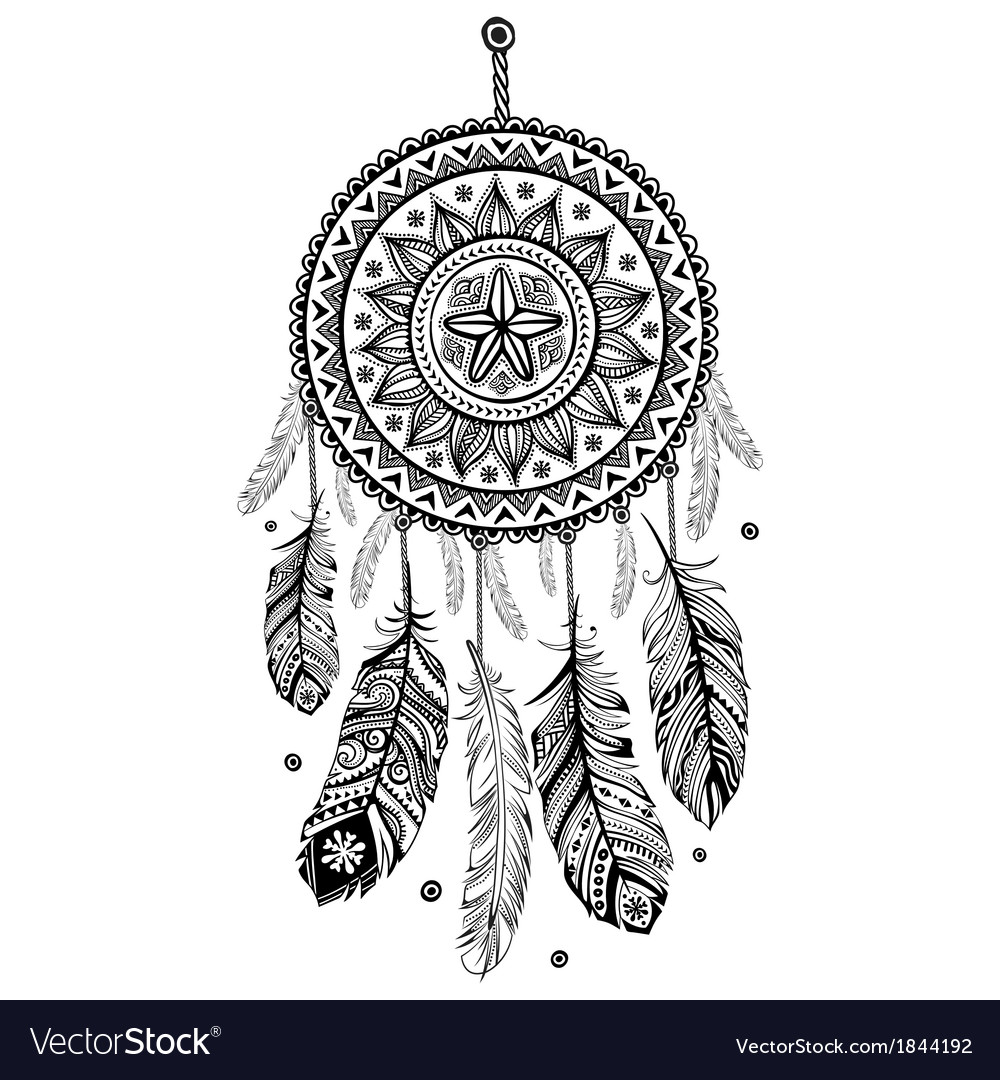 Ethnic American Indian Dream Catcher Royalty Free Vector