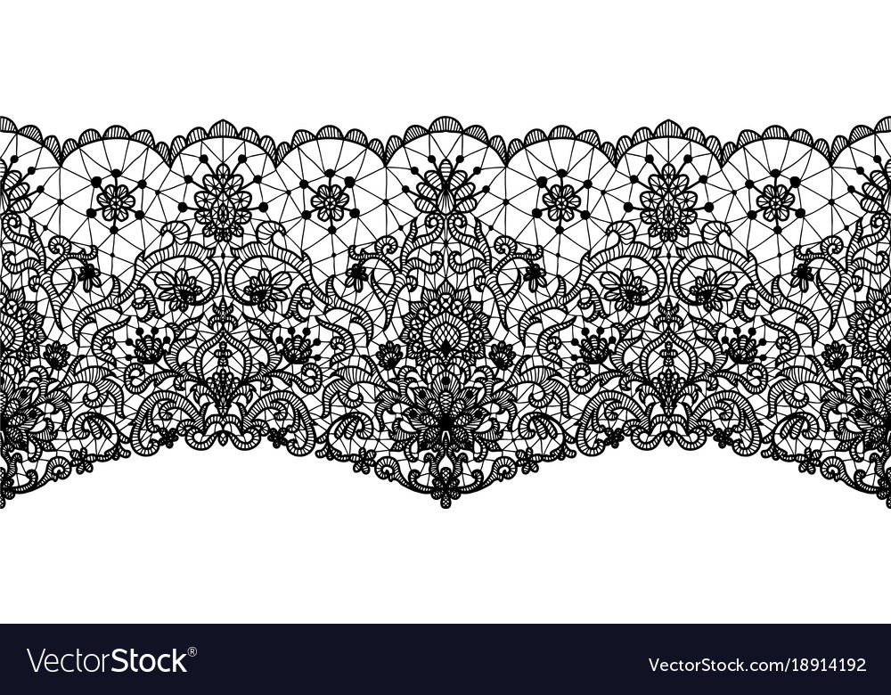floral lace border royalty free vector image vectorstock
