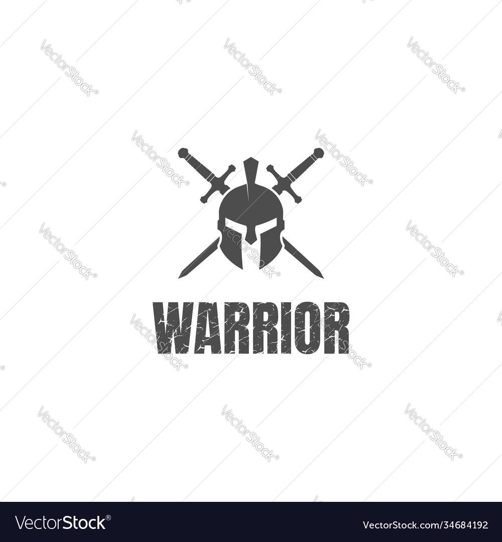 Greek sparta spartan helmet warrior with crossed