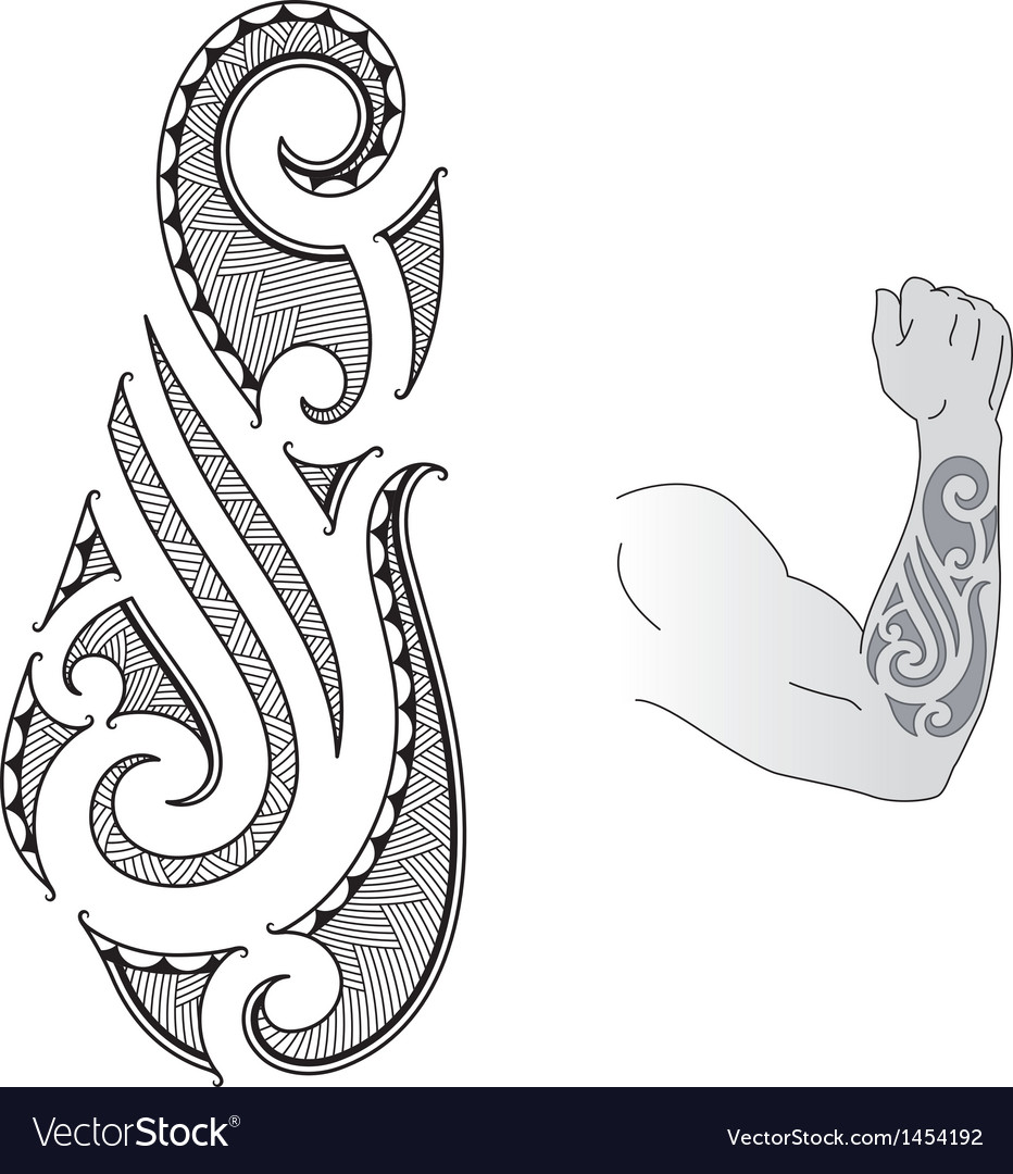 Maori tattoo design vector