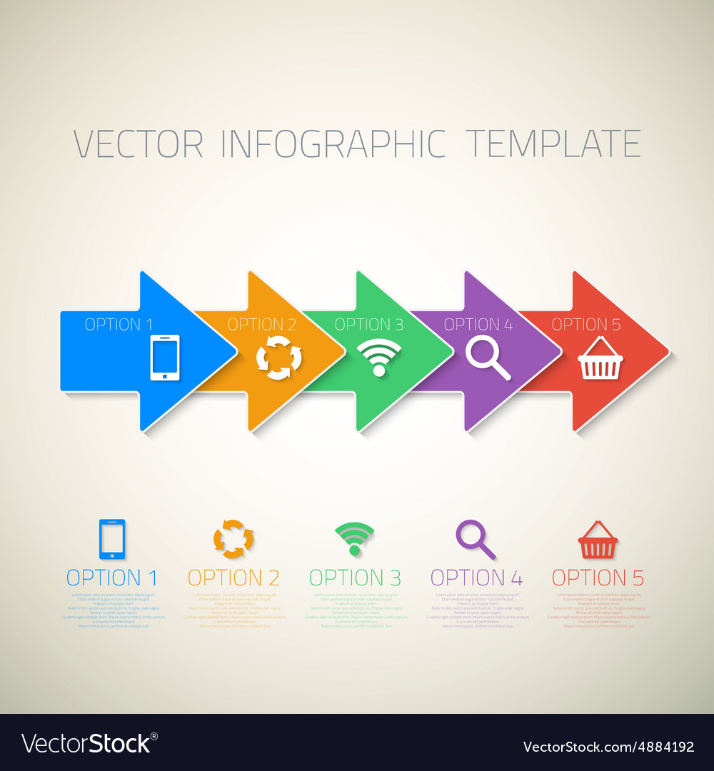 Web Infographic Arrows Template Layout With Icons