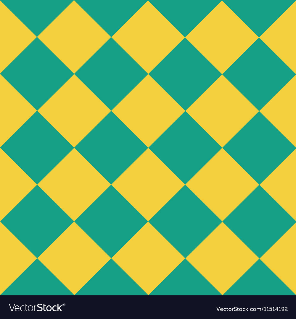 Yellow Green Chess Board Diamond Background