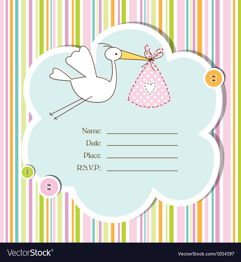 baby shower card vector image - Baby Shower Cards