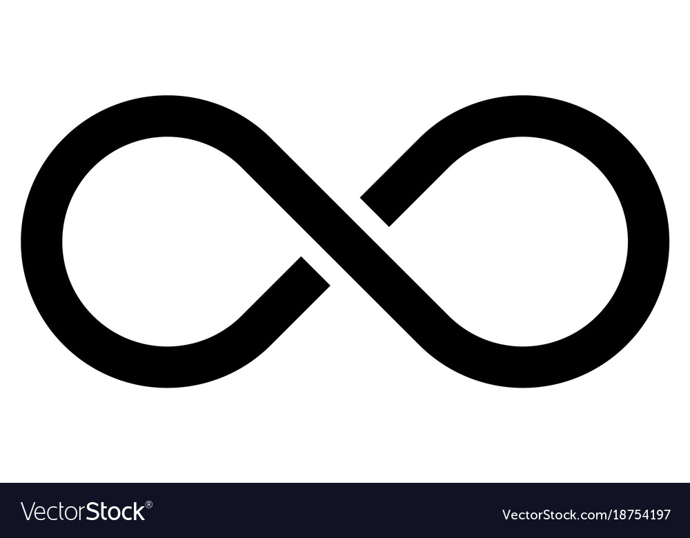 Black Infinity Symbol Icon Concept Of Infinite Vector Image