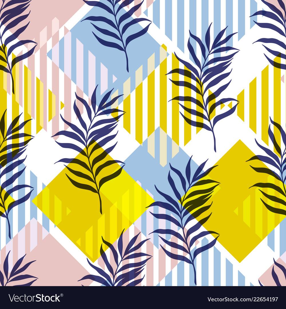 Botanical seamless modern pattern