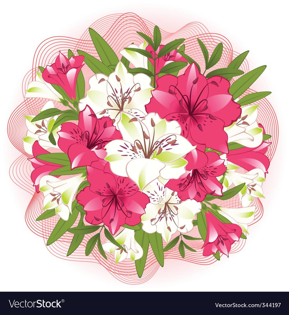 Floral Bouquet Royalty Free Vector Image Vectorstock