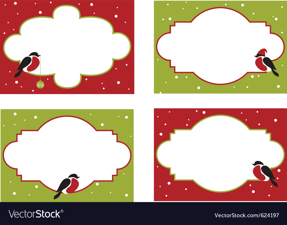 Four frames of christmas cards Royalty Free Vector Image
