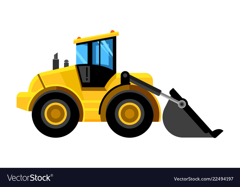 Front end loader bulldozer construct machines