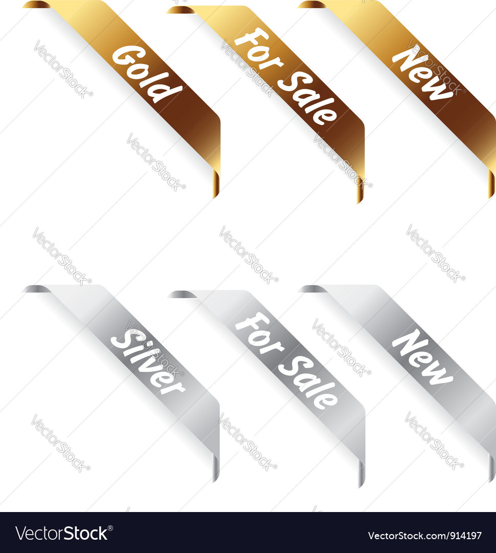Gold and silver Labels vector image