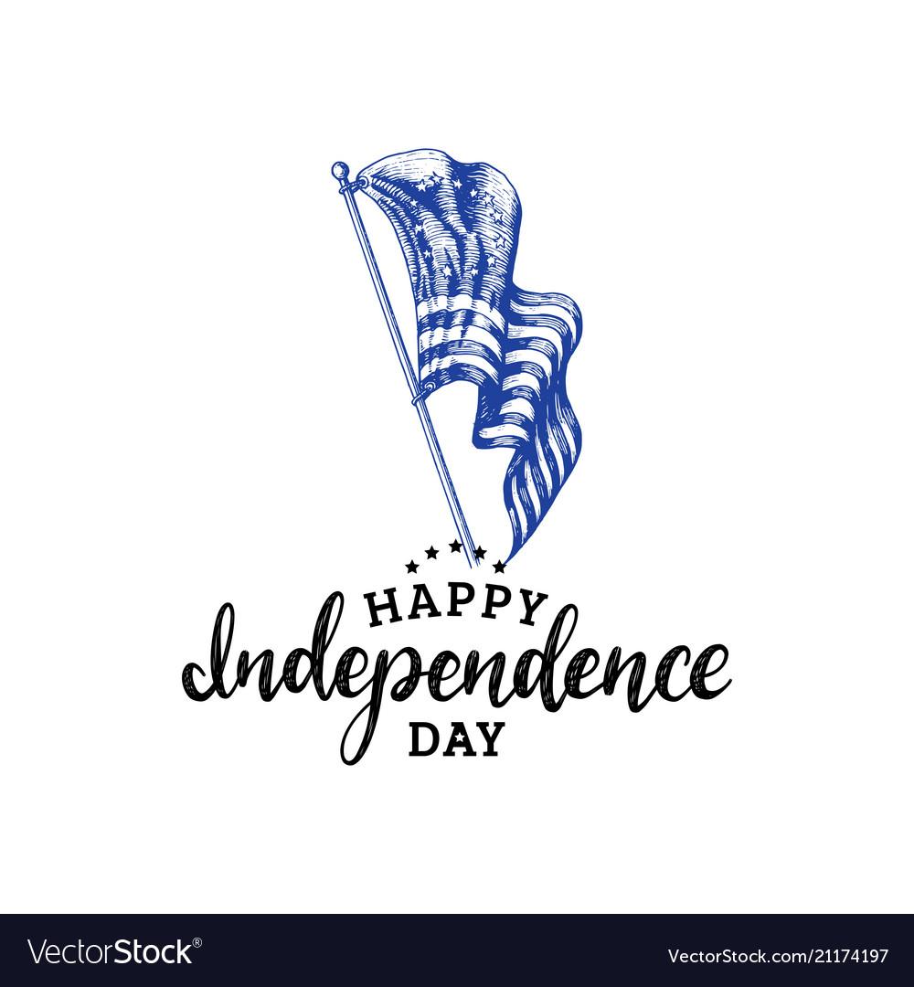 Independence day united states americahand