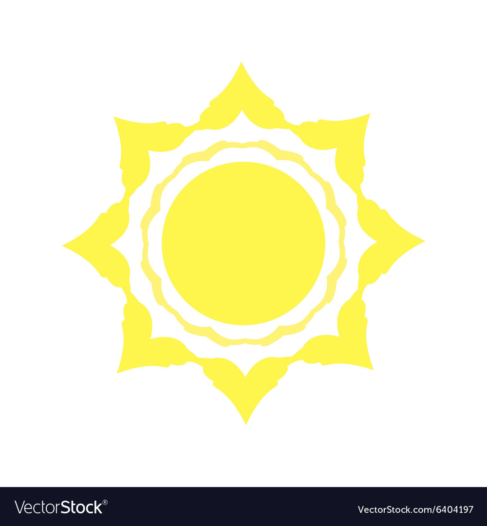 Mechanical logo yellow sun