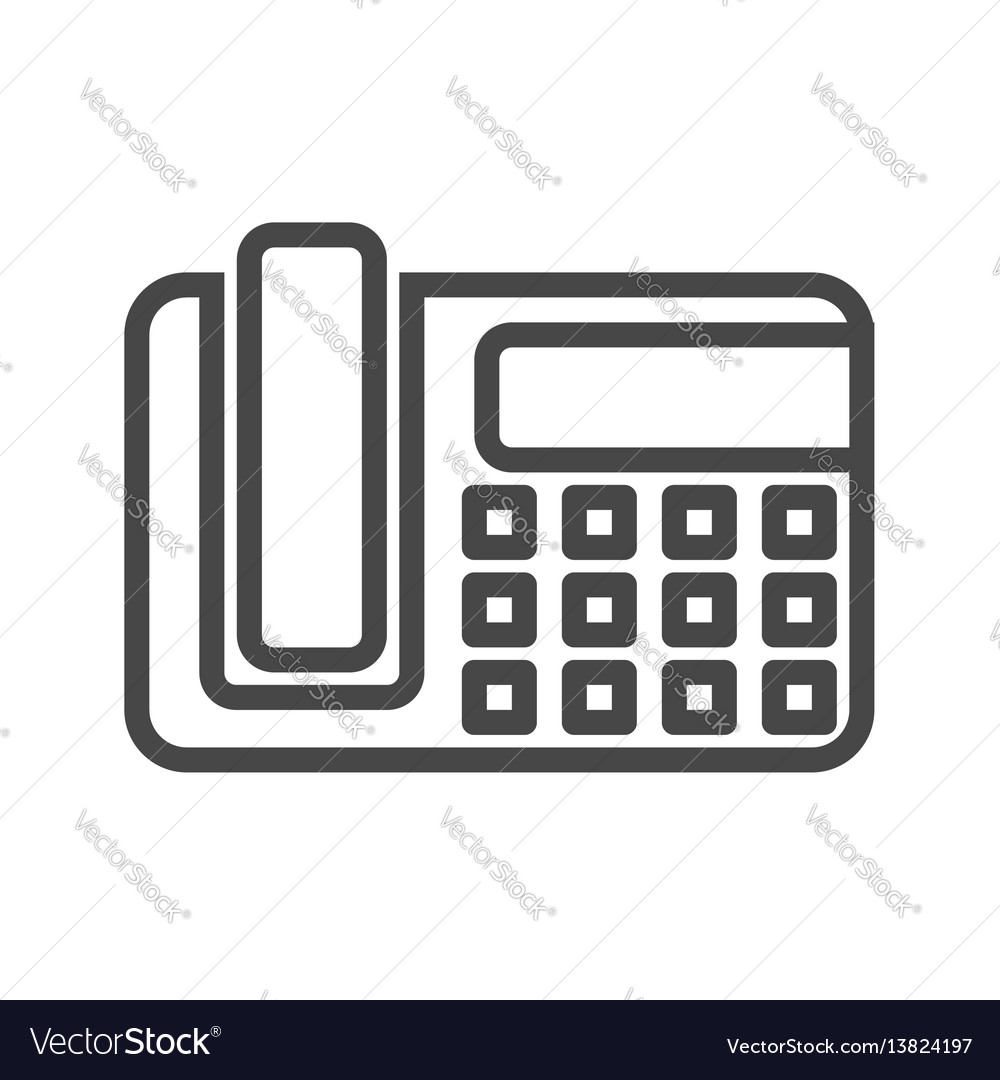 Office phone thin line icon