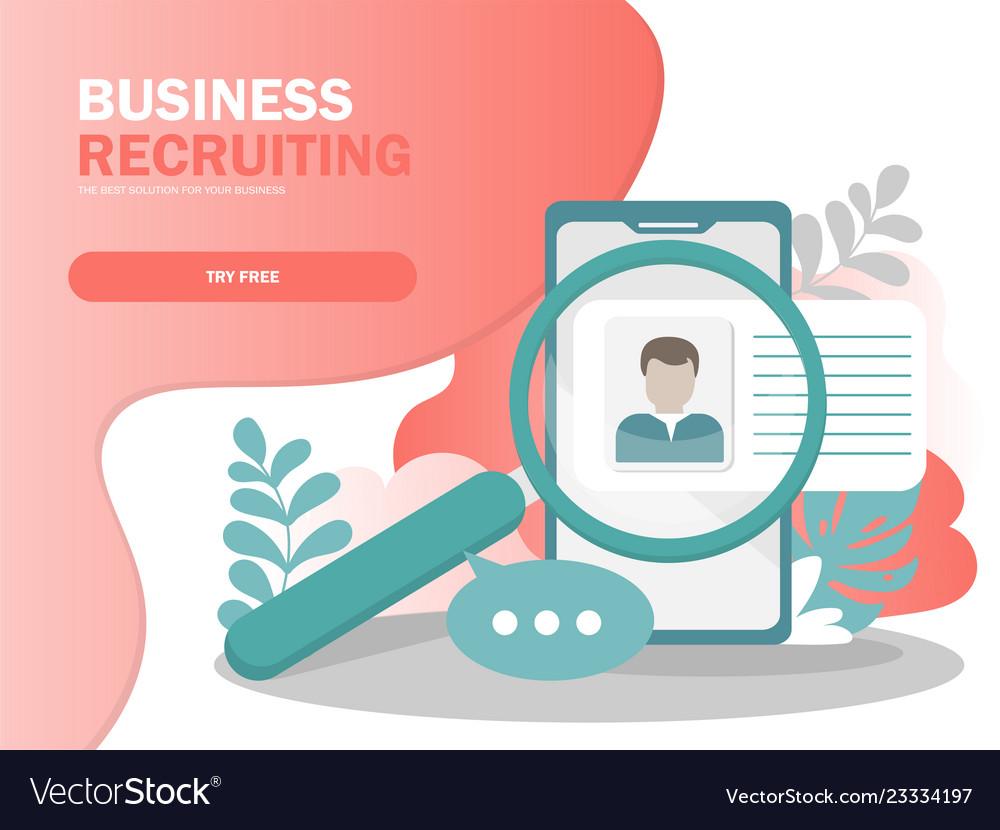 Online recruitment concept