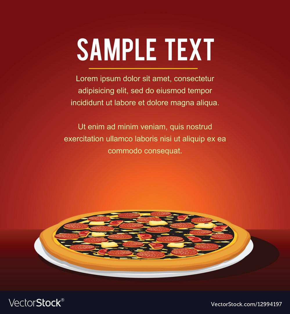 Pepperoni Pizza Background