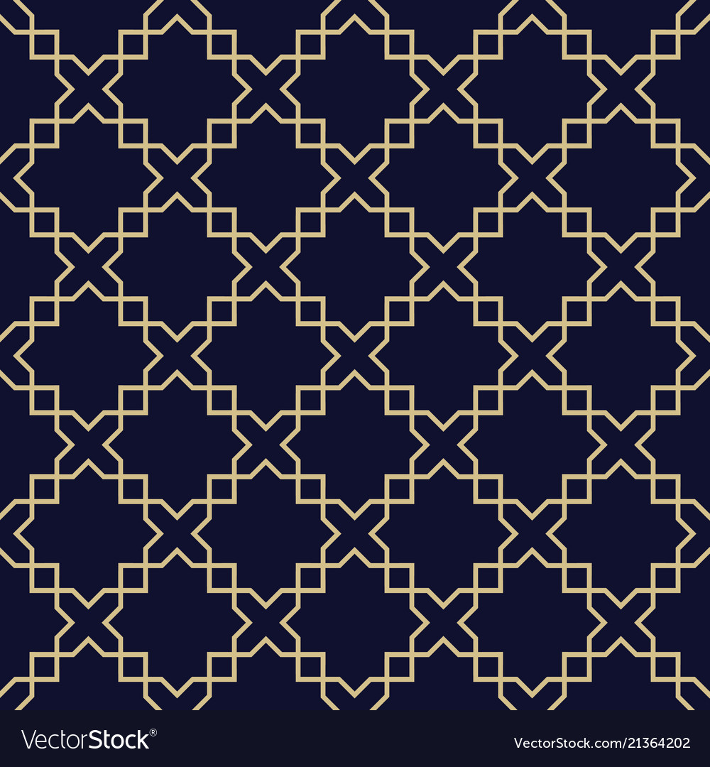 Abstract arabic seamless patterndark blue and