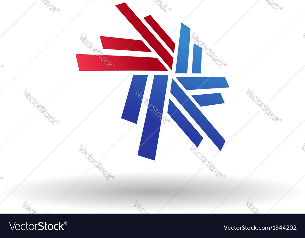 Abstract snowflake symbol