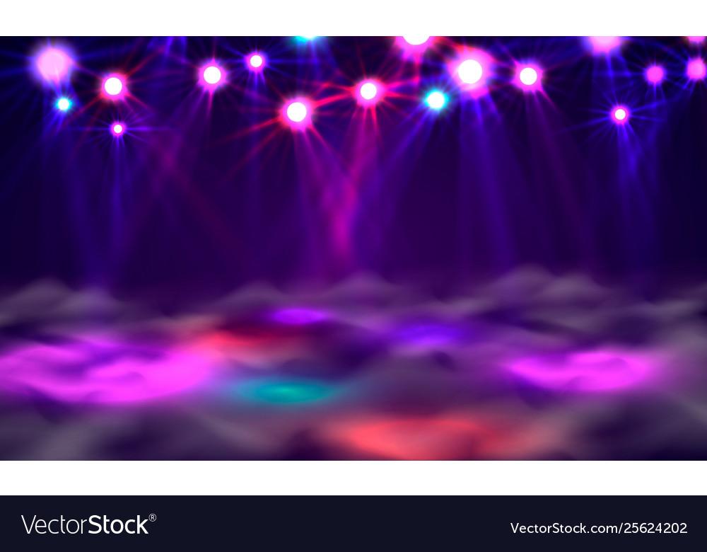 Dance Floor Banner Light And Smoke On