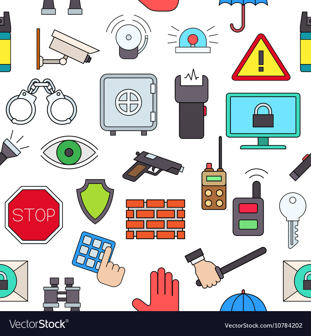 Guard colorful pattern icons
