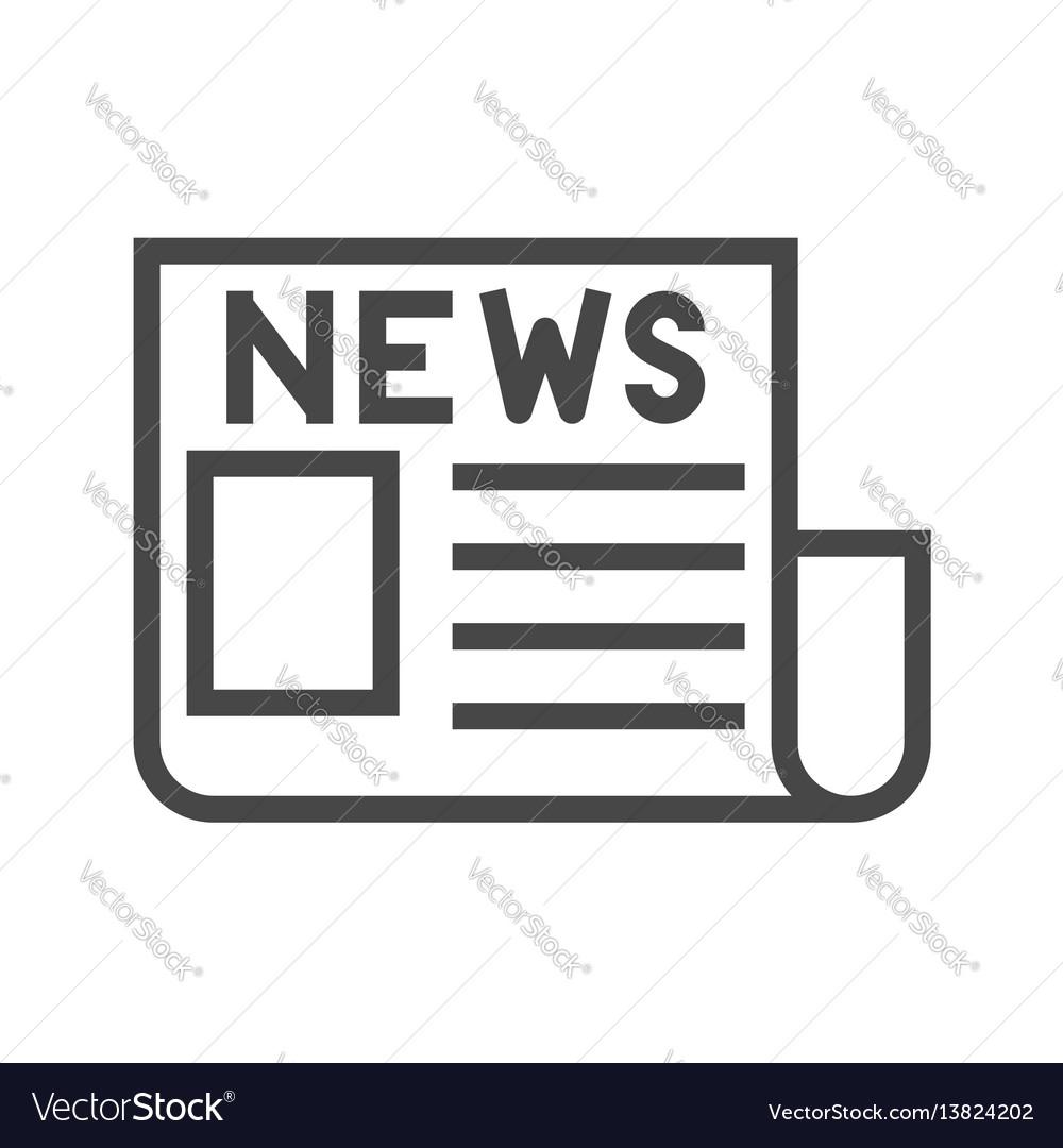 Newspaper thin line icon