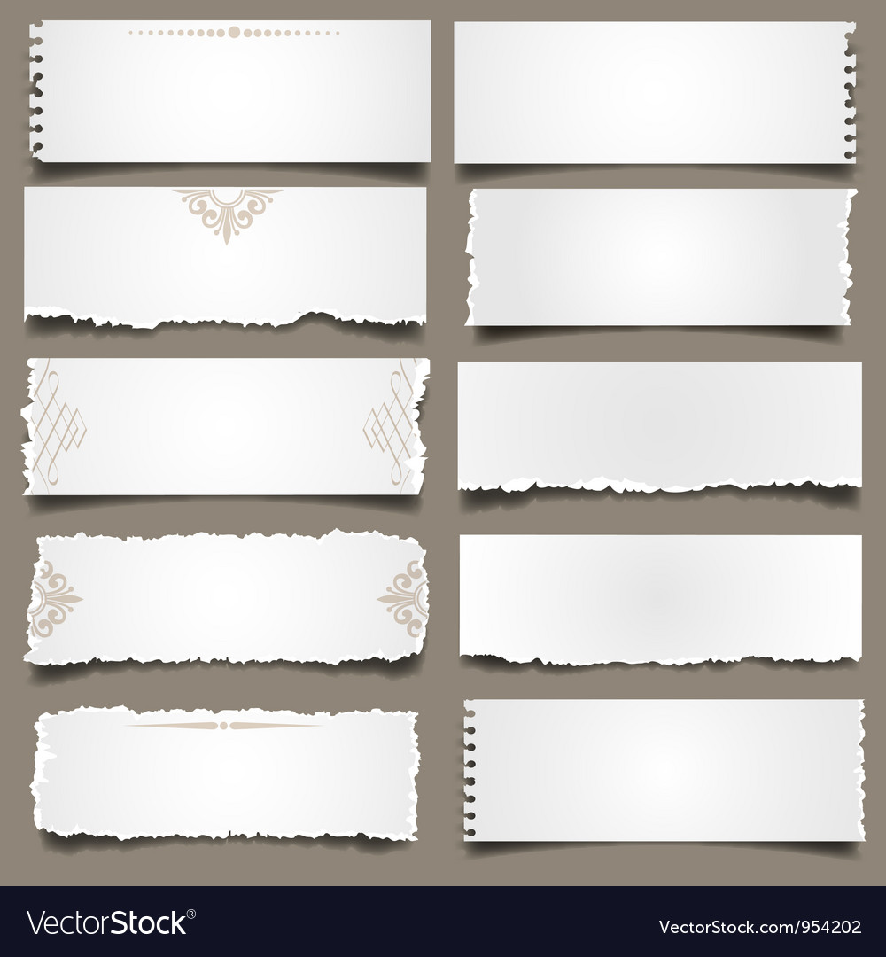 Ten notes paper vector image