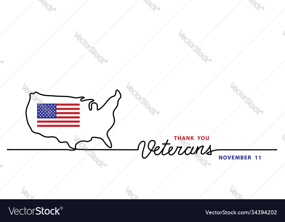 Thank you veterans simple banner poster