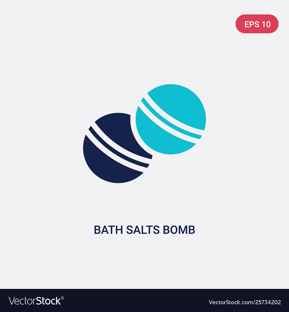 Two color bath salts bomb icon from beauty