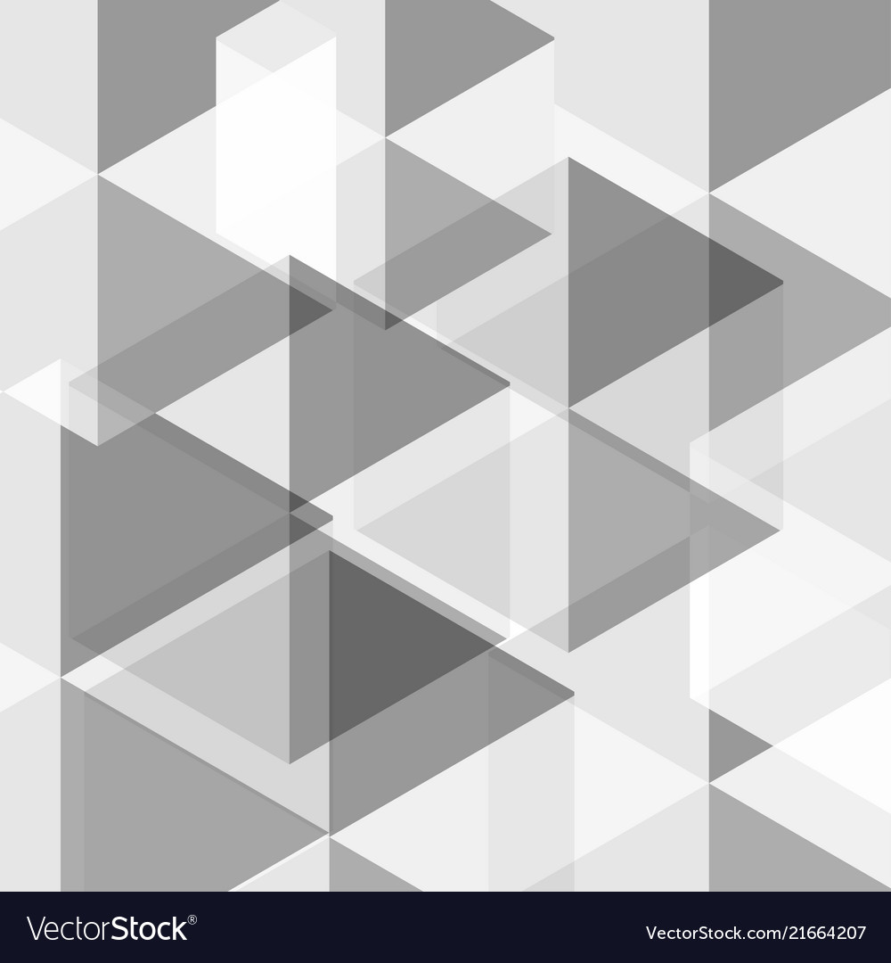 Abstract background white and gray hexagons
