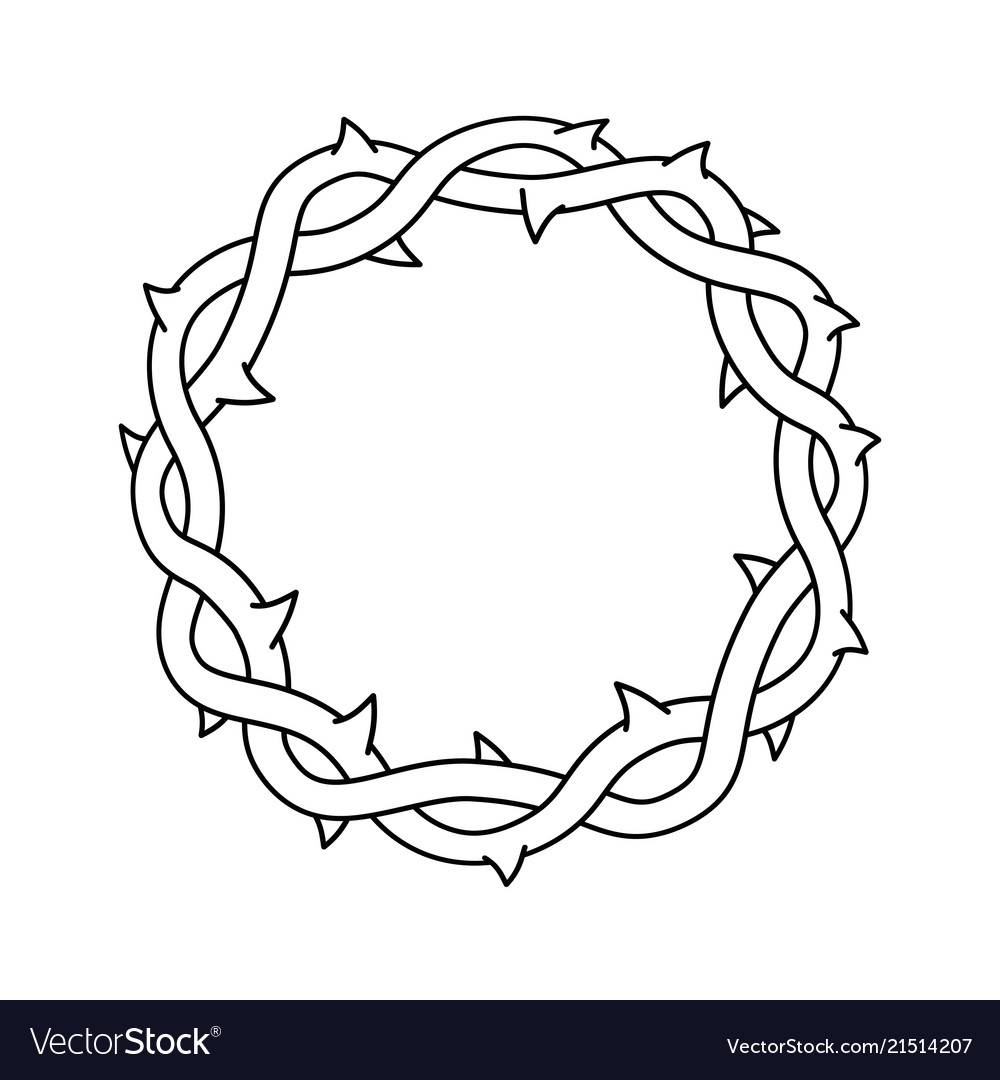 Crown thorns easter religious symbol