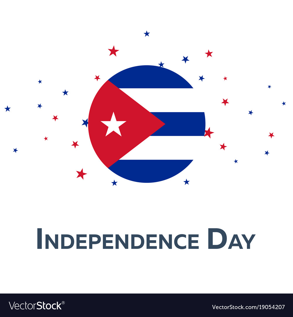 Independence day of cuba patriotic banner