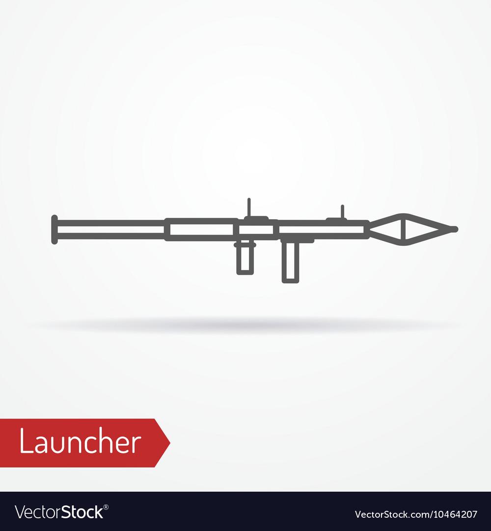 Launcher line icon