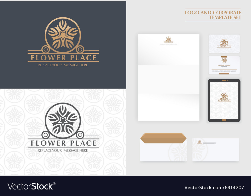 Premium logo and corporate template vector image