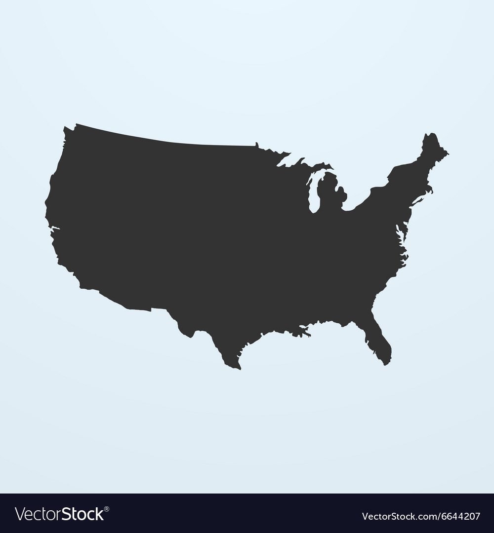 Silhouette of USA Map United states of America map