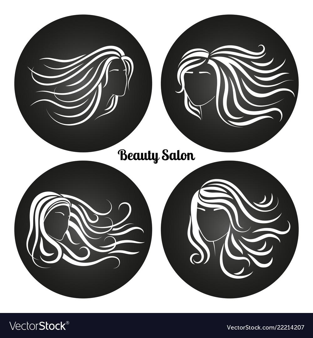 Woman beauty salon chalkboard logos