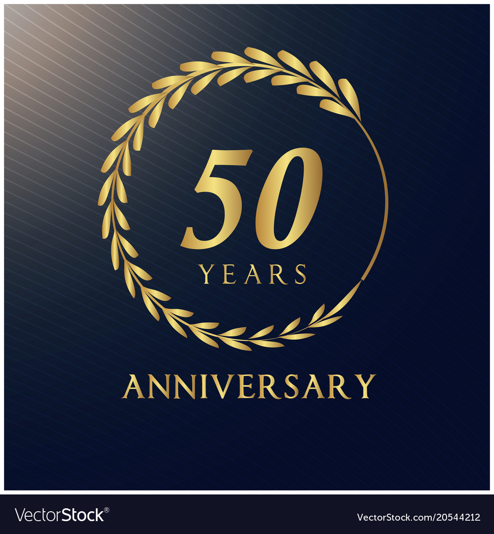 50 years anniversary luxurious logotype ima