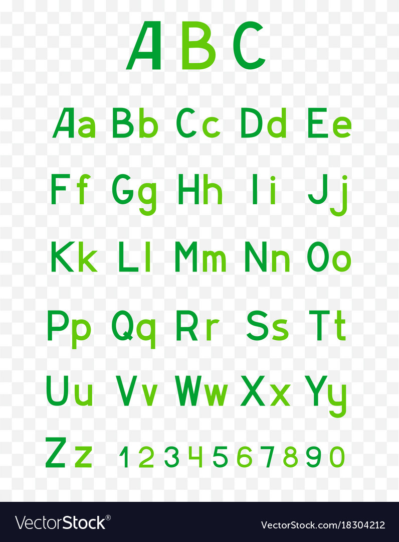 Abc green alphabet