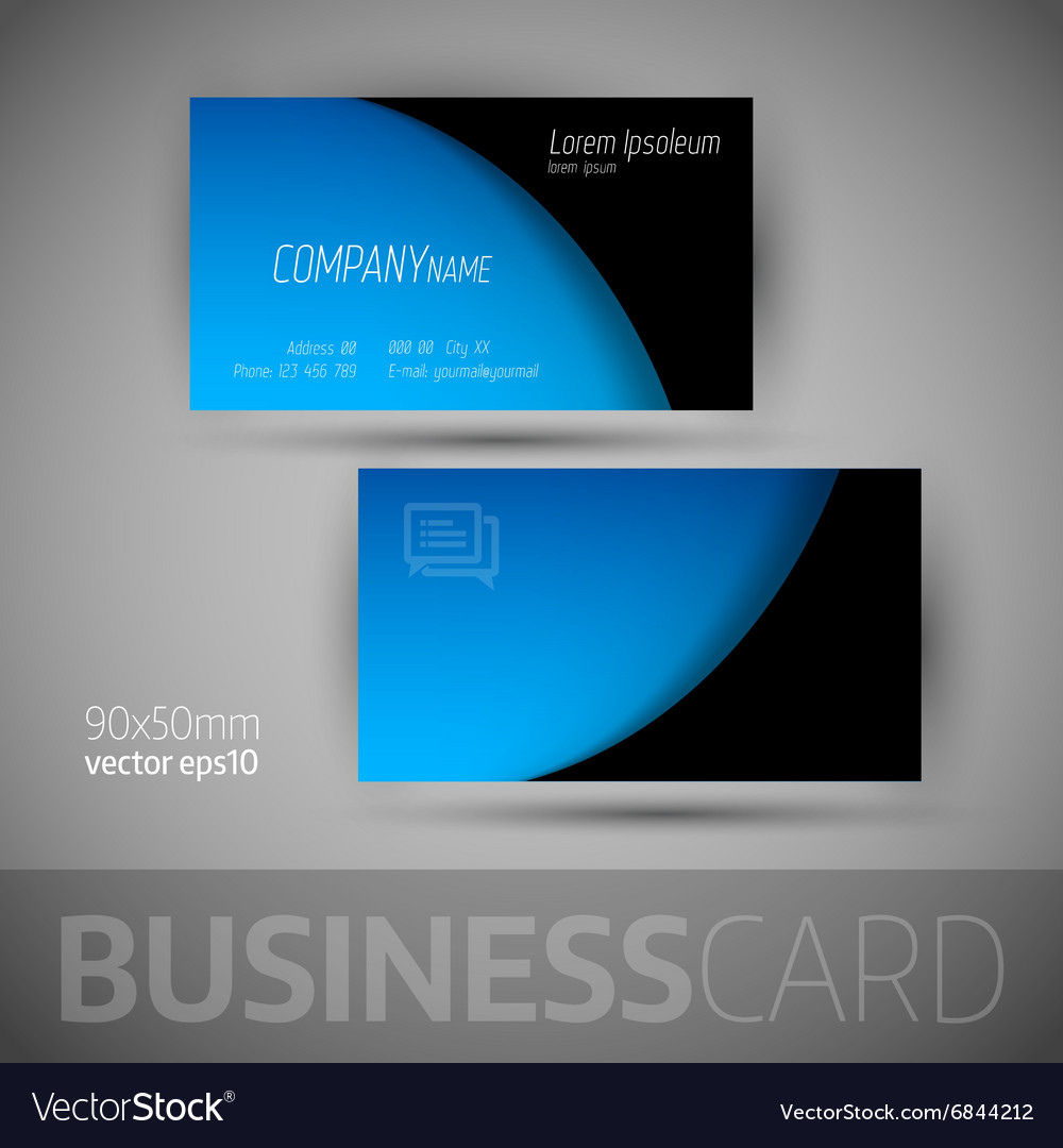Business card template with sample texts vector image reheart Choice Image