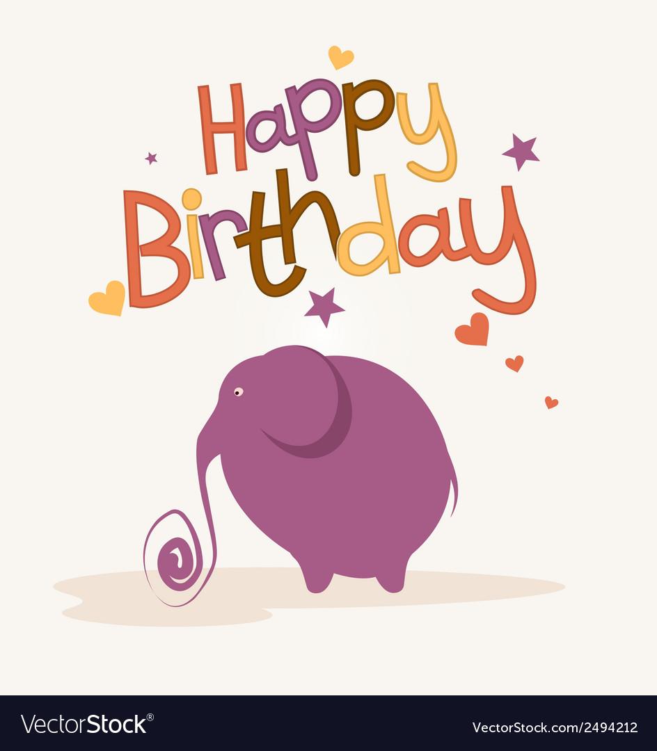 Cute card with elephant