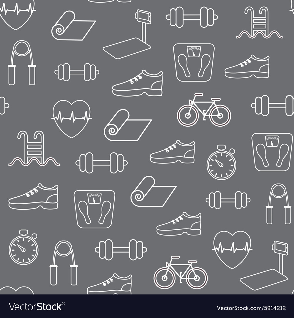 Fitness seamless pattern background