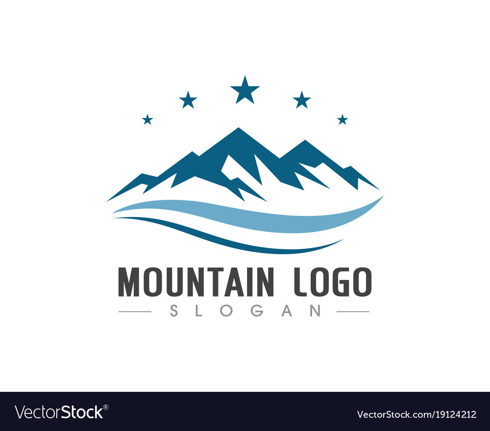 Mountain logo business template