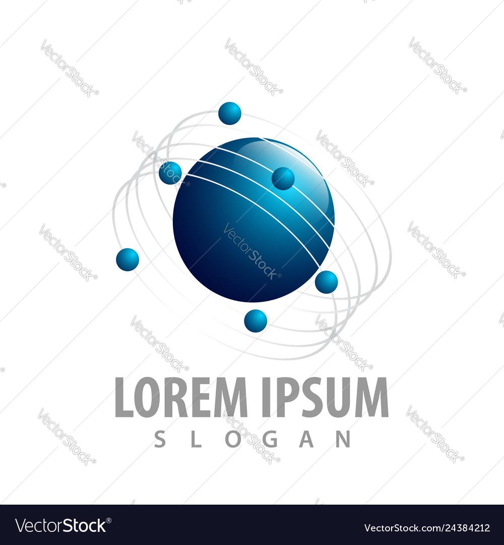 Planet orbits concept design symbol graphic