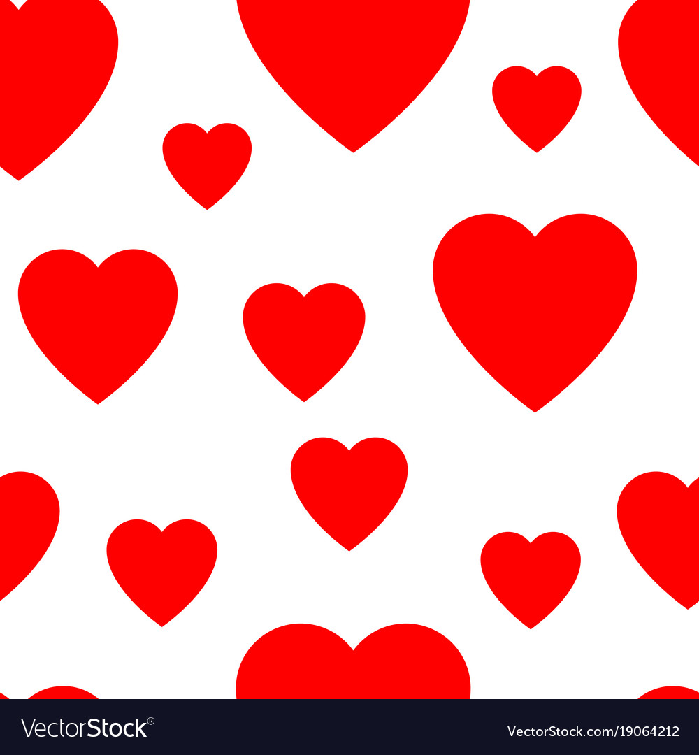 seamless pattern from simple flat hearts vector image rh vectorstock com heart vector all free download hearts vector png
