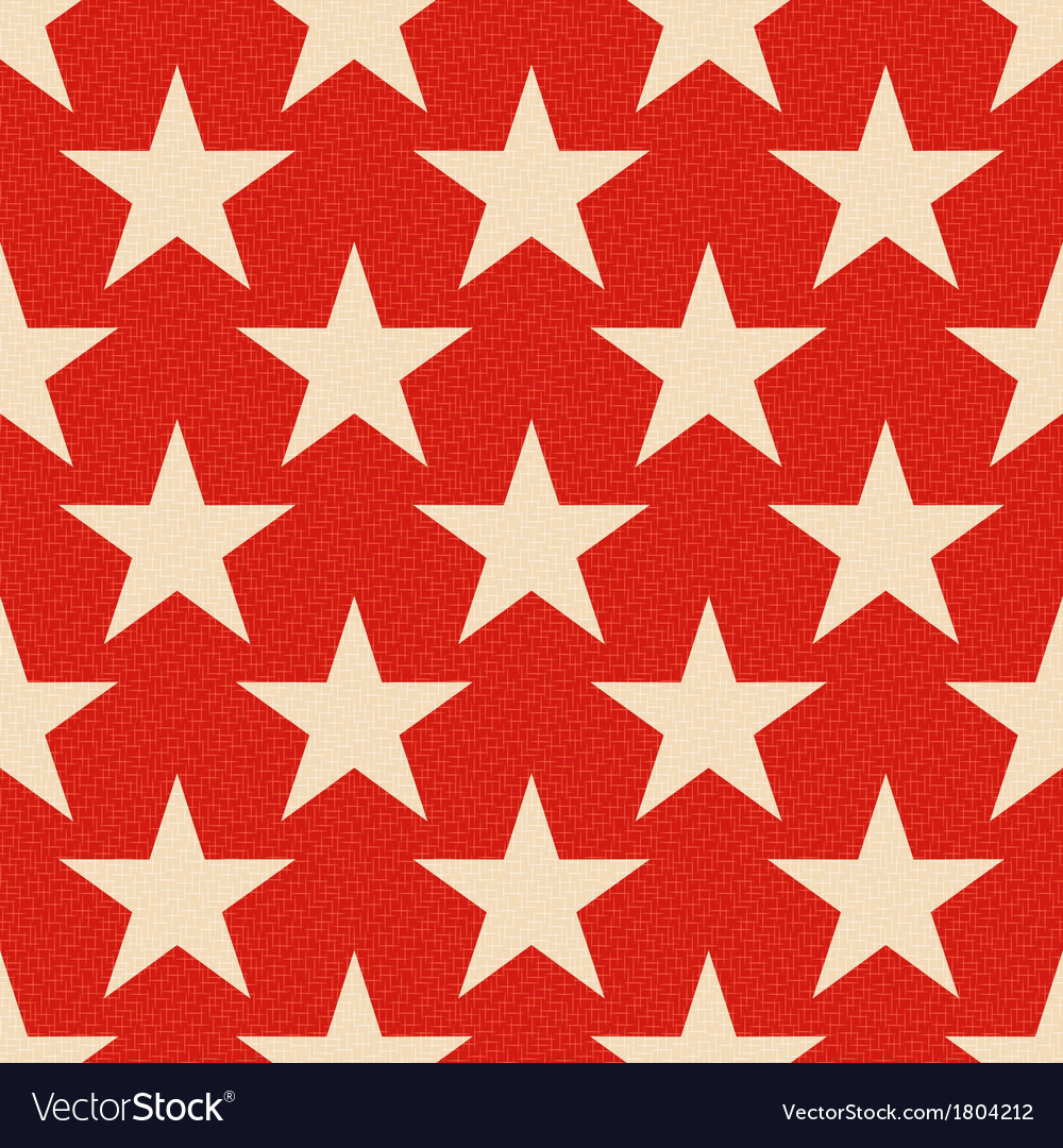 Seamless red stars background vector image