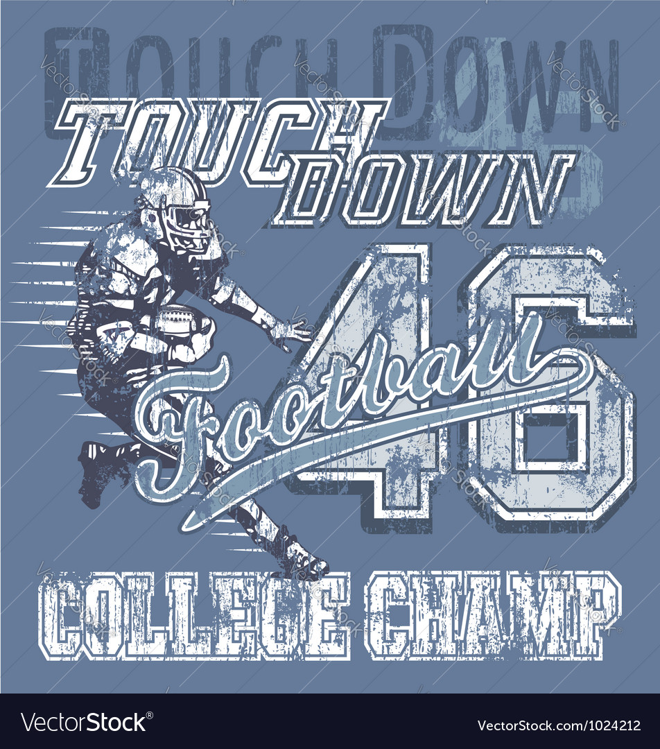 Touchdown football vector image