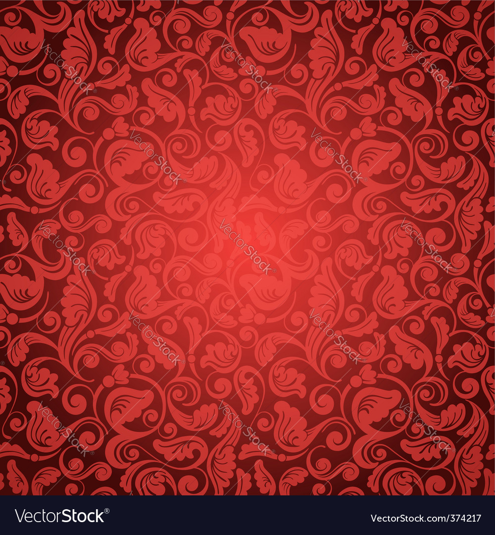 Antique wallpaper vector image
